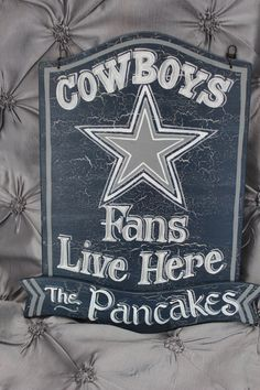 Dallas Cowboys 8x12 Hand Painted Custom Made by TouchOfJoyDesigns Football  Signs 6d9b83d883d
