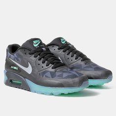 Nike Air Max 90 ICE QS Shoes - Black/Clear Grey