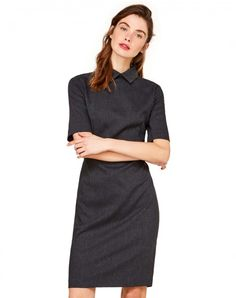 Shop Short sleeve dress Dark Gray for DRESSES at the official United Colors of Benetton online shop.