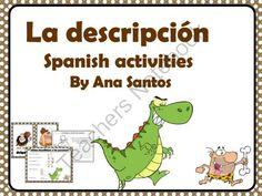 La descripci�n Spanish activities from Languages Corner on TeachersNotebook.com -  (18 pages)  - La descripci�n Spanish activities