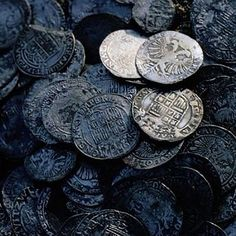 Silver coins, Iron Coins. Perfect for an Ironborn moodboard.