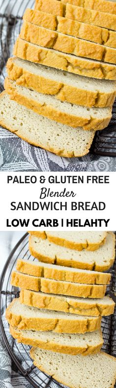 Low carb paleo sandwich bread. Best Grain free bread recipes! Paleo french bread. Easy to make sandwich bread. Delicious healthy bread recipes for all your cravings!