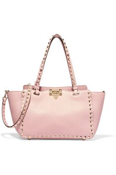 VALENTINO The Rockstud small textured-leather trapeze bag  $2,095.00 https://www.net-a-porter.com/product/724830