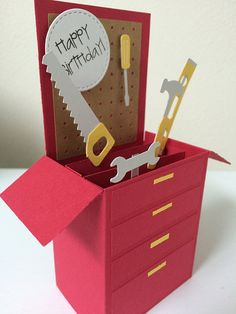 Tool Box Birthday Card in a box. A gift por MessagesAndMemories