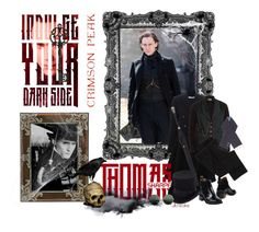 """Indulge Your Dark Side with Crimson Peak : Contest Entry"" by ultracake ❤ liked on Polyvore featuring Givenchy, Alexander McQueen, Nudie Jeans Co., JOHN BULL, Ralph Lauren, Nanamica, Olivia Riegel, vintage, CrimsonPeak and thomassharpe"