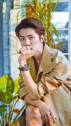 Sehun X MadameFigaro Exo Xiumin, Exo Ot12, Kpop Exo, Chanbaek, Vixx, K Pop, Chris Hemsworth, Sehun Cute, Exo Official