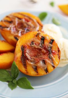 Grilled Peaches With Cinnamon-Sugar Butter