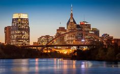 Nashville is the capital of the U.S. state of Tennessee and the county seat of Davidson County. It is located on the Cumberland River in the north - central part of the state. The city is a center for the music, healthcare, publishing, banking and transpo