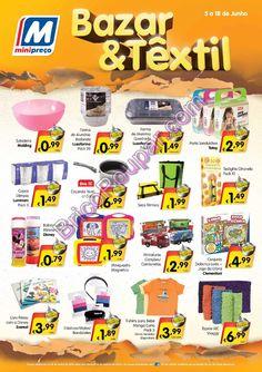 Novo Folheto Minipreço Bazar e Têxtil - de 5 a 18 de junho