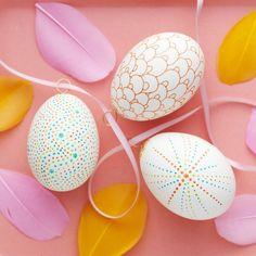 Sharpie marker på ägg easter egg panduro hobby