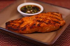 Grilled Salmon with Asian Dipping Sauce, South Beach Phase 1...  This has been a hit while entertaining!