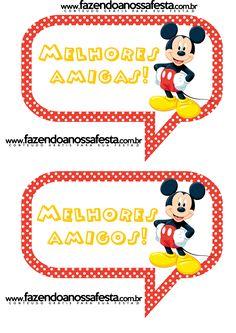 Plaquinhas Divertidas para Fotos do Mickey Mouse: