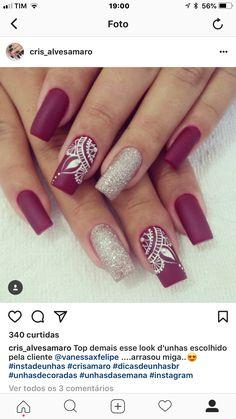 Henna Nail Art, Henna Nails, Cute Acrylic Nails, Fun Nails, Bright Nail Designs, Mandala Nails, Shoe Nails, Pretty Nail Art, Nagel Gel