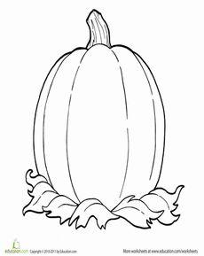 coloring fall one big pumpkin - Pumpkin Colouring Sheets