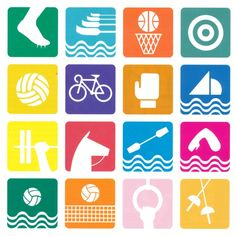 pictograms olympic games 1968 Mexico City