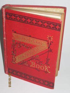 1884 TENNYSON'S BIRTHDAY BOOK by Alfred Tennyson Belford Clarke & Co Gold Gilt