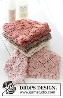 Dishcloth Knitting Patterns, Knit Dishcloth, Free Knitting, Crochet Patterns, Scarf Patterns, Crochet With Cotton Yarn, Crochet Yarn, Drops Design, Magazine Drops