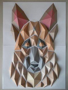Мозаика из оригами Кота Хирацука