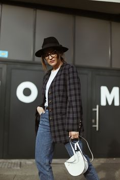checked blazer  | Sandra Bendre