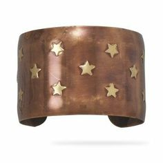 Wide Star Cuff Bracelet Brass and Copper Antique Look Wildfire Fashion. $19.32. Brass and copper. Star design