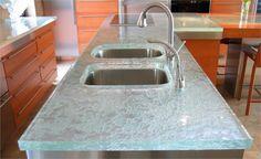 Custom Glass Countertop from ThinkGlass