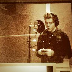 Luke in the studio.