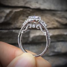 Verragio engagement rings from the Verragio Insignia collection, beautiful rings in white gold
