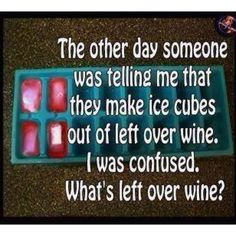 why would u do that if there actually is left over wine drink it the next day that's all.