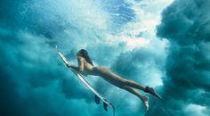 Maya Gabeira- Brazilian big wave surfer. Awesome pic!