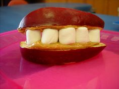 """Cheery"" Chompers: snack, along with paper plate craft; perhaps use with lesson on Ro. 10:9 (or other lessons on the lips/mouth)"