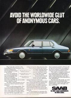 Original Saab Print Advertisement For The Saab 900 Turbo 4-Door Sedan