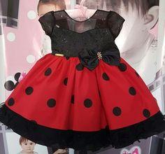 Vestido Infantil Minnie Luxo - tam 1 ao 3