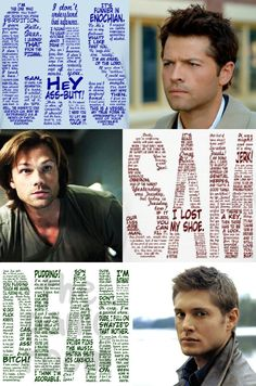 Supernatural Bloopers, Supernatural Pictures, Supernatural Fan Art, Supernatural Wallpaper, Sam Dean, Destiel, Superwholock, Funny Cute, Nerdy