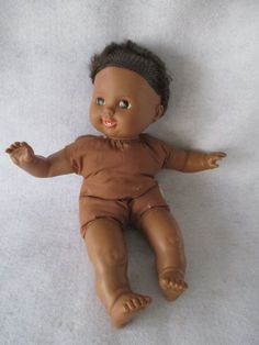 Tiny Tears Doll, Vintage 1986, Black African American Ethnic Doll by HobbitHouse on Etsy