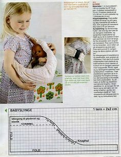 Sling mold for dolls Doll Sewing Patterns, Sewing Toys, Doll Clothes Patterns, Baby Sewing Projects, Sewing For Kids, Muñeca Baby Alive, Girl Dolls, Baby Dolls, Reborn Dolls