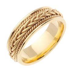 Here's the two-tone version of The Dance, a hand braided wedding band in gold with high-sheen polished finish. The white gold inner band is smooth for a comfort fit, while the central design is a hand-crafted gold. Silver Wedding Bands, Custom Wedding Rings, Wedding Ring Bands, Gold Ring Designs, Gold Bands, Gold Band Ring, Band Rings, White Gold, Solid Gold