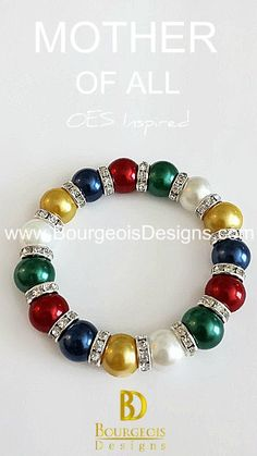 Eastern Star Inspired OES Mother of All Pearl Bracelet by Bourgeois Designs