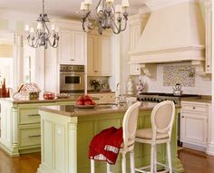 I am not sure I could ever convince the hubby to invest in cabinets this color, but it sure looks amazing!! Interior Designer: Suzanne Kasler