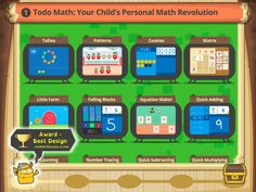 Great, free app with games for several math concepts and skills