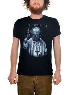 "Men's ""Pope Hannibal"" Tee by Too Fast (Black) #inkedshop #hannibal #pope #graphictee"