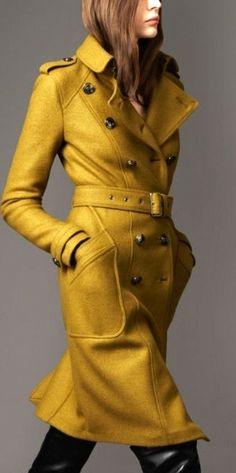 Mantel okergeel