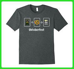 Mens German Lederhosen Pretzel and Beer Shirt Medium Dark Heather - Food and drink shirts (*Amazon Partner-Link)
