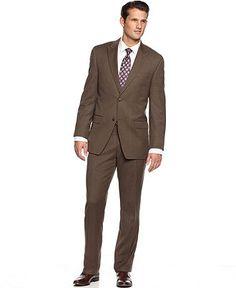 Alfani RED Suit Separates, Brown Weave Slim Fit - Mens Suits ...