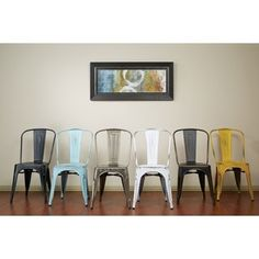 Shop for Vintage Antique Finish Modern-style French Sheet Metal Cafe and Bistro Armless Chairs (Set of 4). Get free shipping at Overstock.com - Your Online Furniture Outlet Store! Get 5% in rewards with Club O!