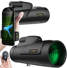 Monocular Telescopes, Low Night Vision Spotting Scope for Adults with Cell Phone Photography Adapter and Wireless Camera Shutter Remote Control for Bird Watching/Hunting/Camping/Travelling Security Surveillance, Surveillance System, Night Vision Monocular, Camera Shutter, Wireless Home Security Systems, Wireless Camera, Phone Photography, Mobile Photography, Alarm System