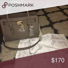 Michael Kors Hamilton NWT!! Brand new ... Authentic .. never used ... COLOR: Dark dune Michael Kors Bags Shoulder Bags