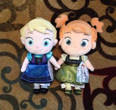 Disney Store FROZEN Elsa and Anna Plush Toddler Dolls  NWT!!! #Dolls