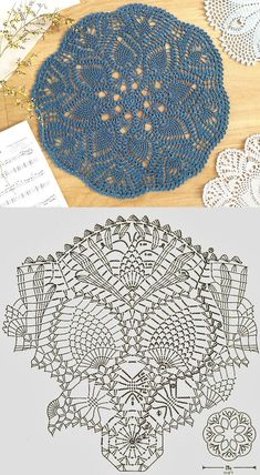 Crochet Circles, Crochet Doily Patterns, Crochet Diagram, Crochet Chart, Thread Crochet, Crochet Motif, Crochet Stitches, Knit Crochet, Crochet Table Runner