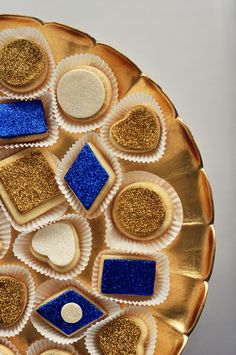 Ode to gold: gilded & glittered mini sugar cookies