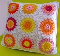 Crochet Arte: Almofadas Decorativas - Crochet Pillow Padrão grátis